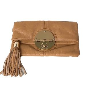 Calvin Klein leather folded clutch